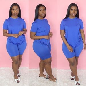 Royal Blue Biker Set